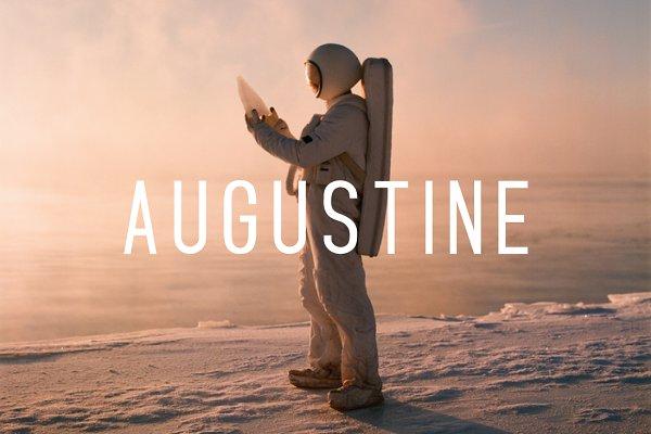 Augustine -Condensed Sans Serif Fon…