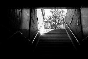 Underground Subway Staircase