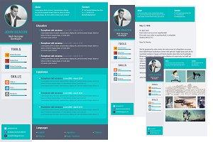 Flat Design Minimal Resume Template