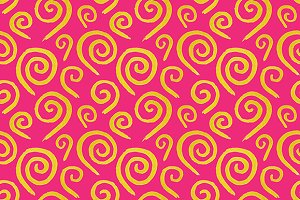 Golden swirl seamless pattern