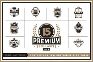 Premium Beer Labels No. 2