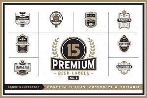 Premium Beer Labels No. 2