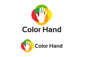 ColorHand Logo designs template