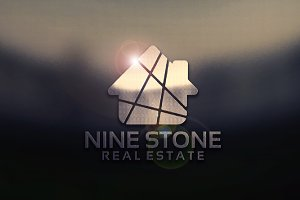 Nine Stone Real Estate Logo template