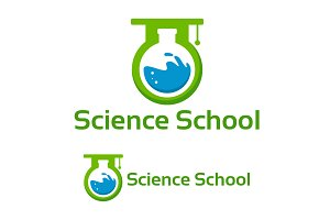 Science School Logo designs Template
