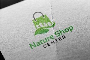 Nature Shop Center Logo Template