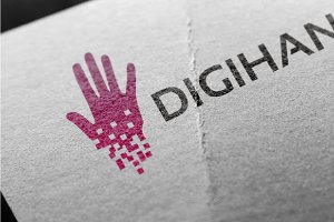 DigiHand Logo Designs Template