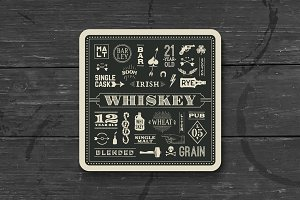 Coaster for whiskey and alcohol beverage