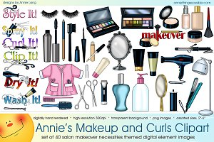 Annie's Makeup and Curls Clipart