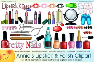 Annie's Lipstick and Polish Clipart
