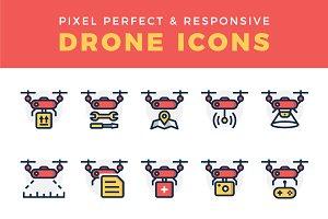Responsive Drone Icon Set