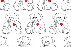 Teddy Bear toy seamless pattern