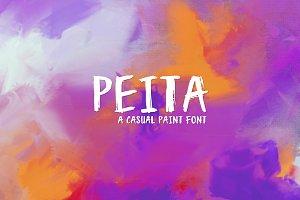 Peita - A casual paint font!