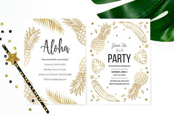 aloha party invitation invitation templates creative market