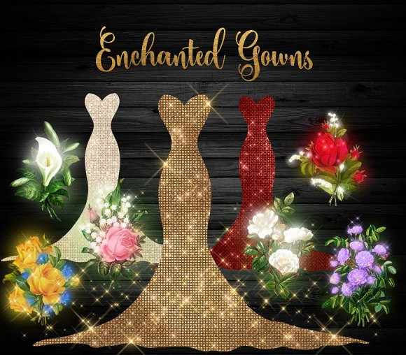 Enchanted Gowns Clipart