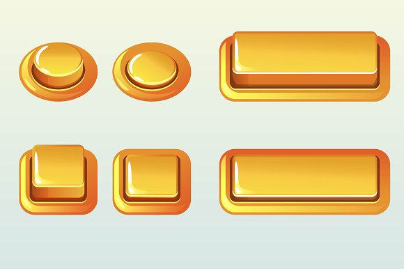Push Buttons For Web Design Element