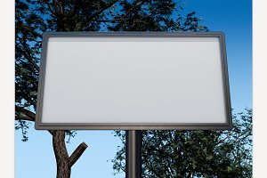 Blank white billboard layout.