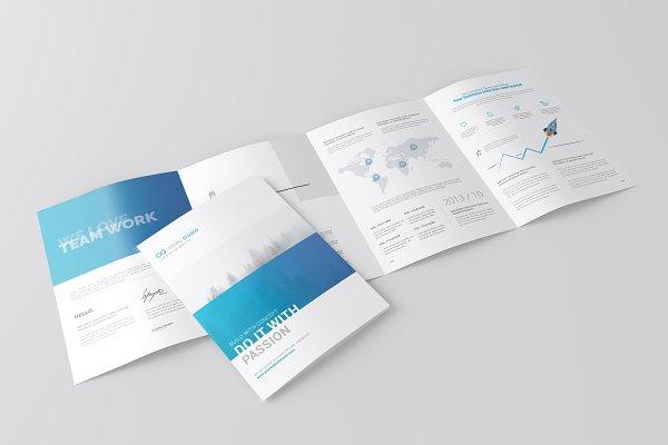 A4 4-Fold Brochure Mockup