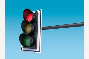 Traffic light. 3D rendering