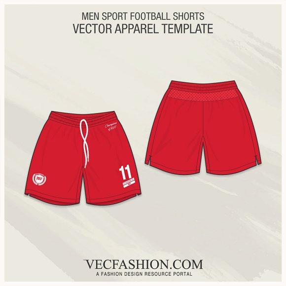 Men Sport Football Shorts