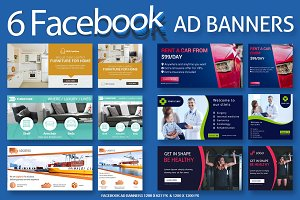 6 Facebook Ad Banners - SK