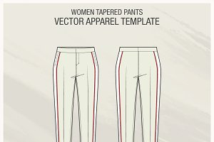 Women Tapered Pants Template