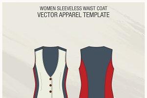 Women Stylish Waistcoat Template