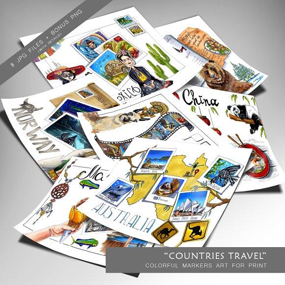 Countries Travel Illustration