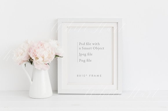 8x10 Floral Frame Mock Up