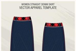 Women Straight Denim Skirt
