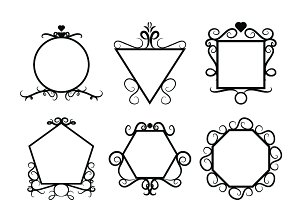 Design frame Ornament icons
