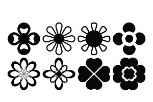 Design flower Ornament icons