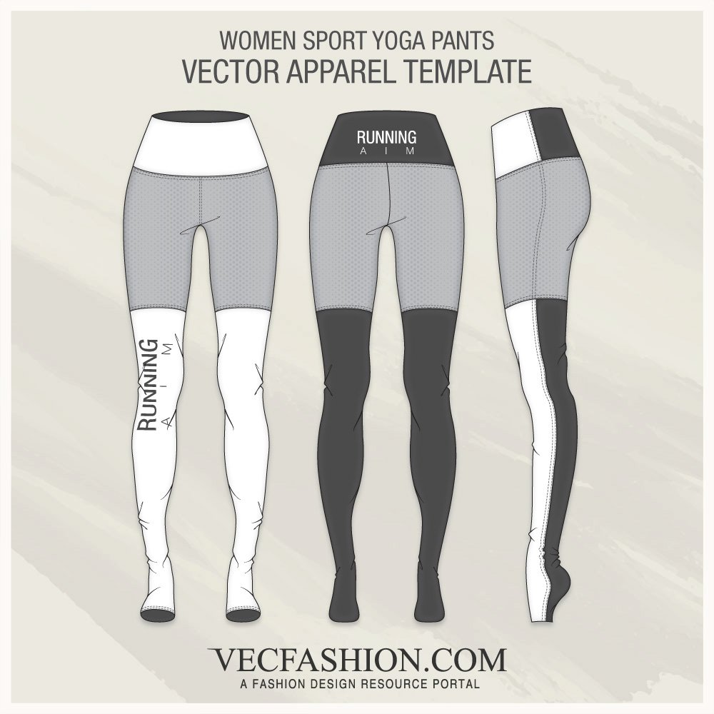 women sport yoga pants illustrations creative market
