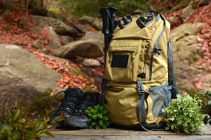 Backpack hiking