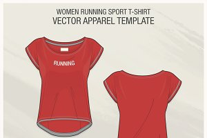 Women Running Sport T-shirt