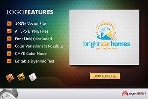 BrightHomeStar - Logo Template