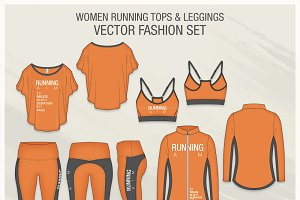 Women Running Tops and Leggings