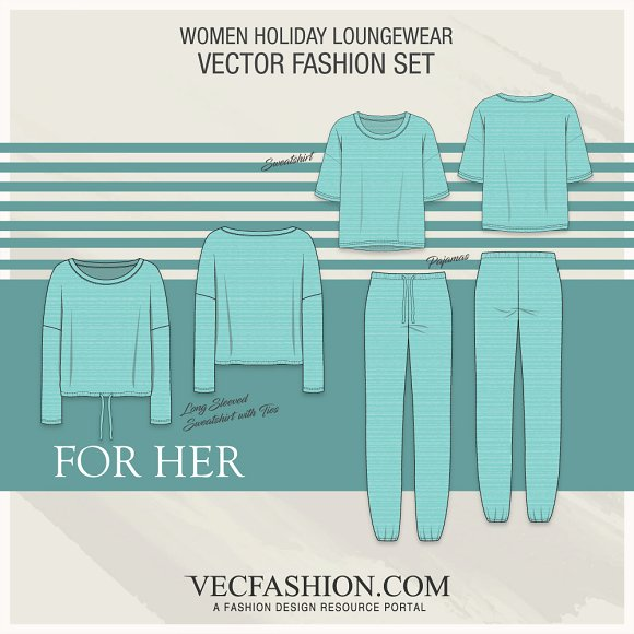 Women Holidays Loungewear Set