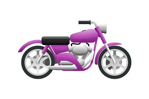 Transportation. Illustration of Violet Motorcycle