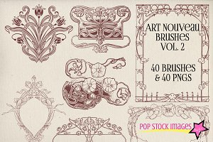 Art Nouveau Frames & Ornaments Vol 2