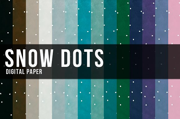 14 Snow Dots Papers