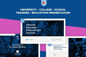 Clean Education Powerpoint Template