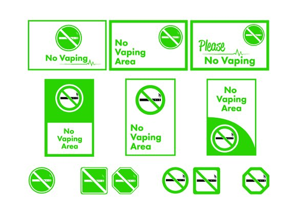 No vaping area icons