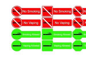 No smoking sign icons