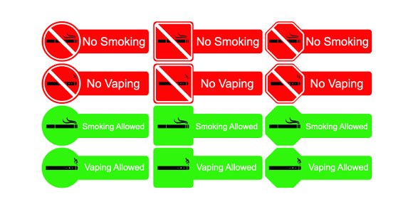 No smoking sign icons in Graphics