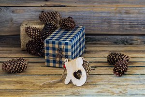 Christmas background, gifts, toys