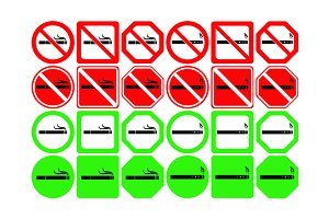 No smoking area icons