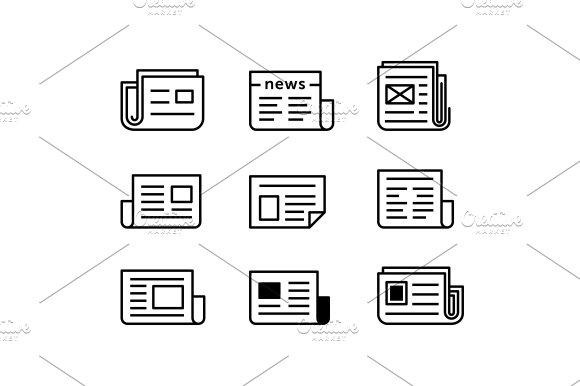 Newspaper Icon Set