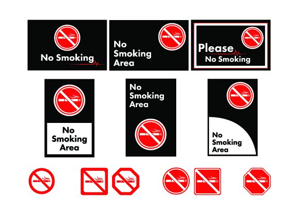No Smoking Area Icons