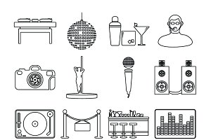 Night clubs icons